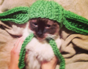 Yoda hat for extra small dogs or cats Jedi costume Star Wars geekery nerdy skywalker