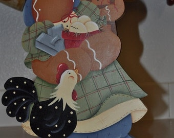Gingerbread and chicken paper towel holder