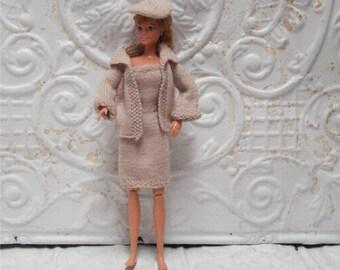 Vintage Barbie Outfit Dress Jacket Hat Sweater