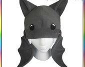 Vampire Bat Hat - Antipill Fleece Beanie Cute Kawaii Halloween Costume Animal Chibi All Sizes Choose a Color