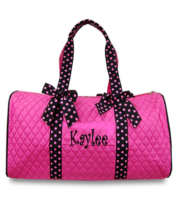 Personalized Girls Duffel Bag Pink Amp Black Great Dance Gym