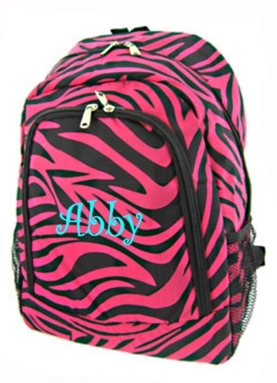 Personalized Zebra Backpack Girls Canvas by MauriceMonograms
