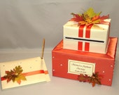 Elegant Custom Made Fall theme Card Box-Guest Book set-any color combination