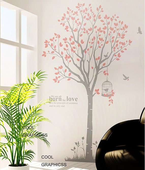 Large Spring Tree -82 Inches tall -Vinyl Wall Decal Sticker Art, Mural,Wall Hanging