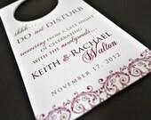 Wedding Door Hangers - Wedding Hotel Door Hangers - Do Not Disturb Signs for Weddings - Hotel Welcome Bags for Weddings