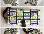 Mixed Tapes Changing Pad Diaper Clutch