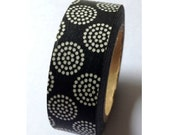 Explosion Black - Japanese Washi Masking Tape - 11 yards