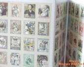 Paper Deco Sticker Set - Alice in Wonder Land - Stamp Shape - 4 Sheets in different designs - 80 Pcs