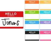 Custom 'Hello my name is' Iron on Decal - Name announcement
