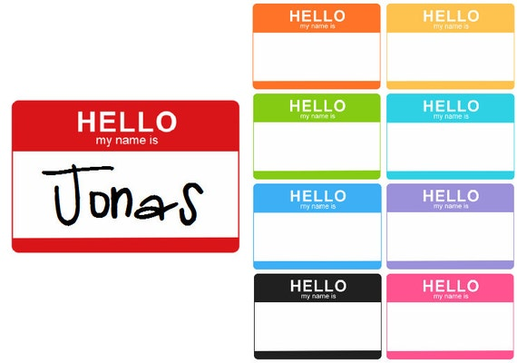 Custom Hello My Name Is Iron On Decal
