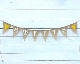 Sweets burlap banner bunting - wedding garland