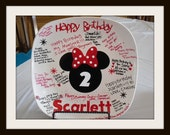 Minnie mouse birthday plate RED