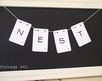 Vintage Letter Banner NEST