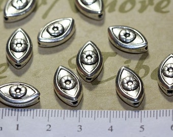 14 pcs per pack 15x8mm The power of Eye Beads Antique Silver Finish Lead Free Pewter