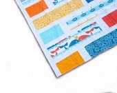 Baby quilt, reversible baby boy quilt, doublesided 2in1 baby or toddler quilt, Birch fabrics, organic fabrics