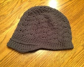 Adult brimmed flower hat - RESERVED for track rodkey