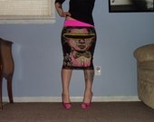 Party With Dracula Pencil Skirt