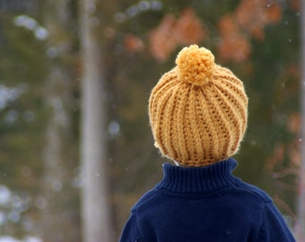 CROCHET PATTERN #118 - Crochet Hat Pattern - Awesome Knit Look Hat - five sizes included from baby, toddler, child, adult - Instant Download
