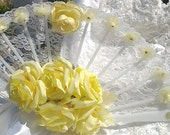 Fan Bouquet Yellow Roses Bridal Bouquet