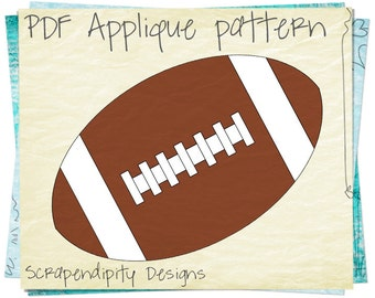 Football Applique Pattern - Sports Kids Applique Template / DIY Football Iron on Transfer / Baby Bodysuit / Sports Quilt Design / PDF AP76-D