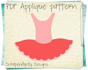 Ballerina Applique Design - Ballet Applique Template / Girls Ballerina Quilt Pattern / Toddler Ballet Shirt / Pink Baby Clothes AP215-D