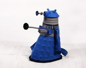 Dalek Bag Dalek Purse Blue Felt Bag Dr Who Geekery