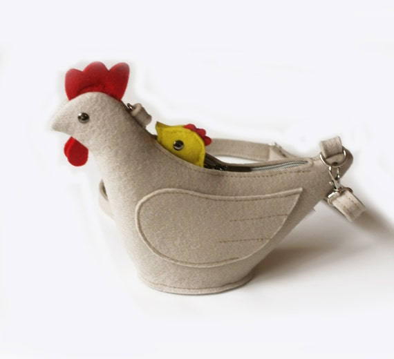 Chicken Purse Felt Children Small Bag Coin Purse