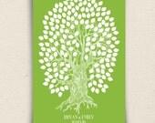 Guest Book Alternative - The Oakwik - A Peachwik Interactive Art Print - 175 guest sign in - Wedding Oak Tree Rustic Guestbook Print