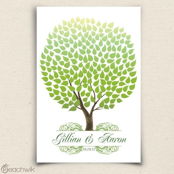 Unique Wedding Tree Guest Book - The Seaswik - A Peachwik Interactive Art Print - 200 guests -  Summer Wedding Tree