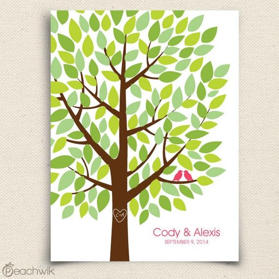 Wedding Tree Guest Book: Wedding Guest Book Tree The Wishwik Multi Wedding By Peachwik