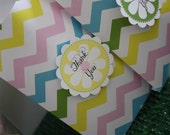CUSTOM Party Favor Tags - Easter Chevron Collection - BellaGrey Designs
