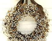 Winter Wreath-Primitive Wreath-Rustic Door Wreath-RUSTIC STAR Wreath-Primitive Country Home Decor-Housewarming Gift-Custom Made Gifts