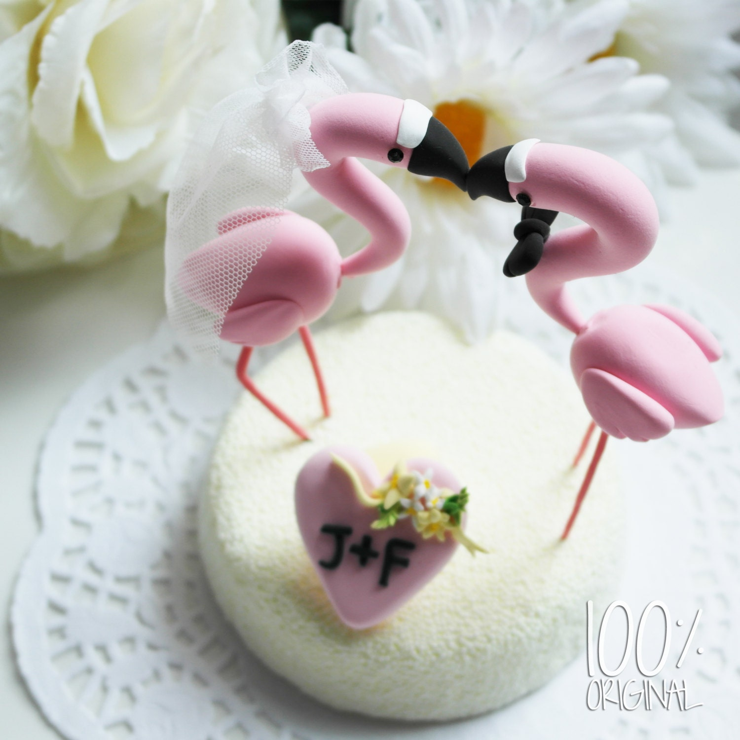Custom wedding cake topper Elegant by TheRosemarryToppers