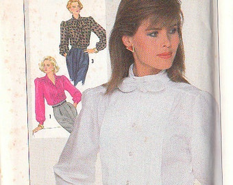 Simplicity 7608 Sewing Pattern Blouse Size 8 Vintage Tux