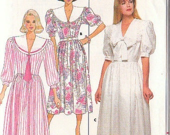 Butterick 4624 Sewing Pattern Womens Dress Size 6-8-10 Vintage