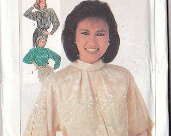 Simplicity 7175 Sewing Pattern Blouse Size 8 Vintage Dressy