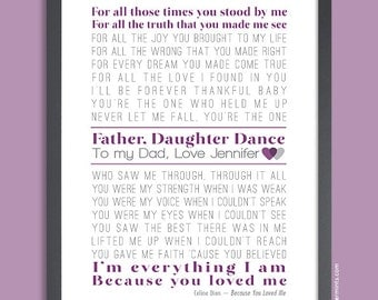 Father of the Bride, Gift for Dad Wedding, Father Daughter Dance, Wedding Gift for Dad