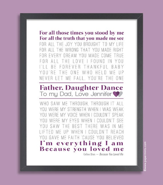 ... , Gift for Dad Wedding, Father Daughter Dance, Wedding Gift for Dad