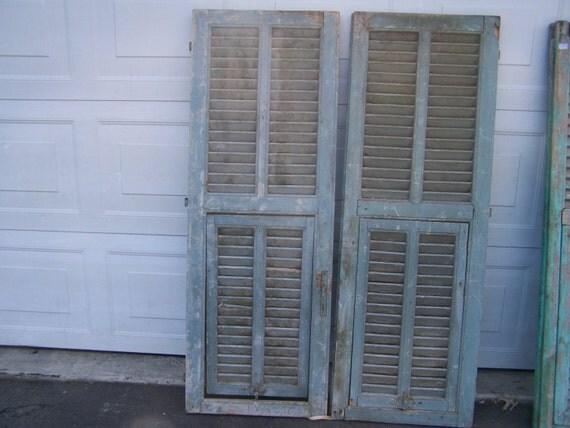 European Shutter Door Antique Wooden