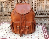 Private Listing for Travis - Large Handmade Travel  Leather  Backpack