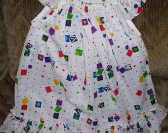 Marked Down-SALE PRICED-Multicolor Geometric Dress