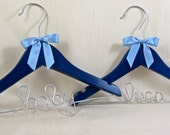 Personalized Baby Shower Gift, Baby Hanger, Name Hanger, More Colors Available