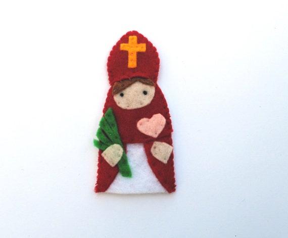 Saint Valentine - Catholic Saint - Toy Finger Puppet