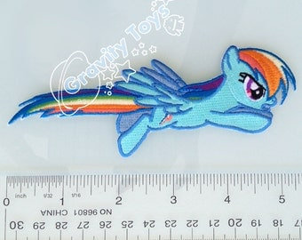 My Little Pony: Friendship is Magic RAINBOW DASH Iron on Embroidery Patch Applique MLPFIM