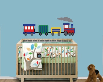 REUSABLE Train Wall Decal - Childrens Decals - B605CWA