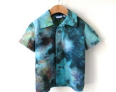 Hand Dyed Boy's Shirt - 100% Cotton