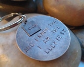 Keychain - Mens Gifts - Fathers Day Gift Ideas -  Personalized Hand Stamped Gifts for men