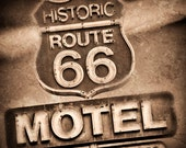 Vintage Route 66 Sign DO2844 Fine Art Digital Photo 8x10