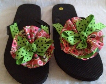 Custom made flip flops.  Summer is here.