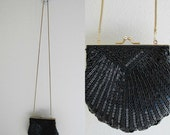 ON SALE 60% OFF closing vintage Carla Marchi Handbag / clam shell clutch